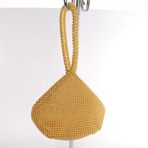 Gouden polstasje met parels
