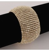 Strass armband - Goud