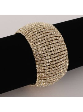 Strass armband -Goud