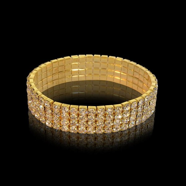 armband strass - Goud (S205)