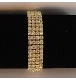 armband strass - Goud (S205)