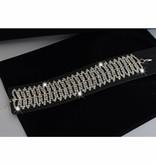 Strass armband - Zilver