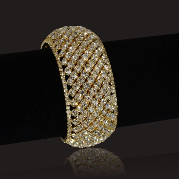 Bangle Armband Strass - Goud