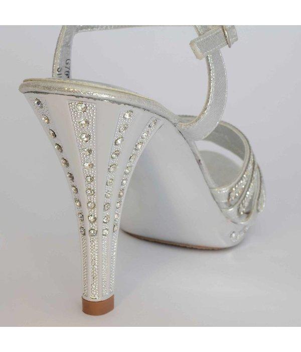 Bruids sandalen - strass