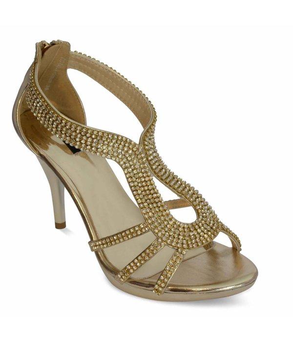 strass sandaletten Gracia - Goud