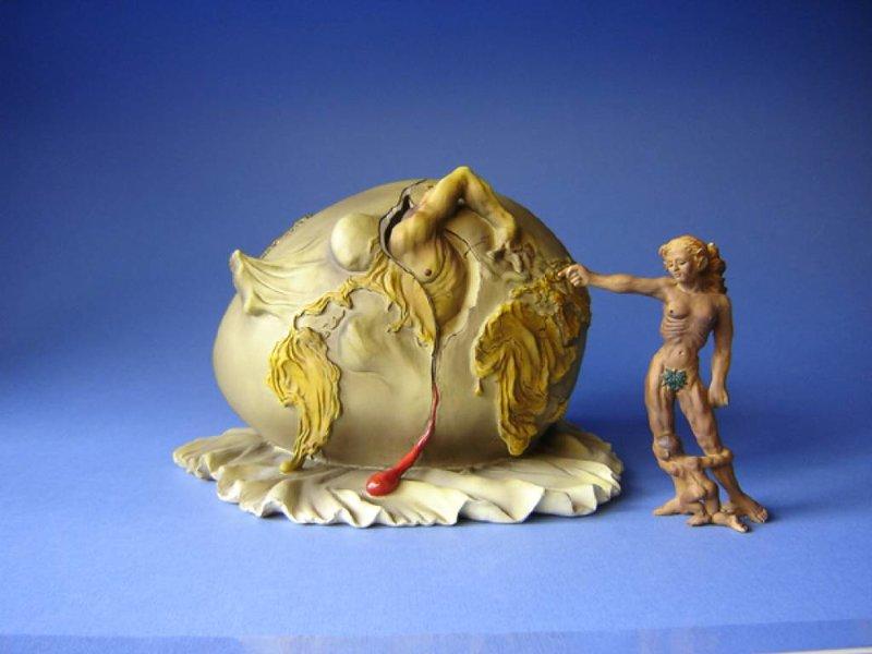 Salvador Dali Geopolitisches Kind beobachtet die Geburt des neuen Menschen (1943) - Dali