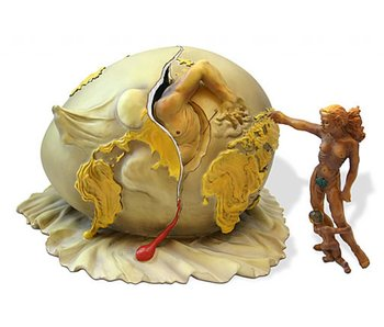 Salvador Dali Egg of Dali, Geopoliticus Child - L