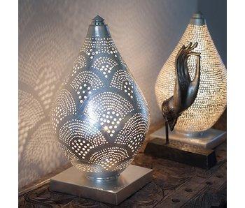 Zenza Oriental Tischleuchte Elegance Mini Fan Silver