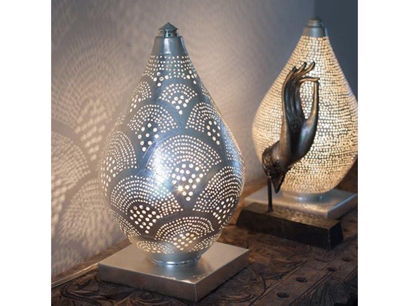 Zenza Filigrain Egyptische tafellamp Elegance Mini Fan Silver