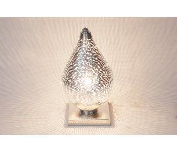 Zenza Filigree Egyptian table lamp mini Filisky Silver