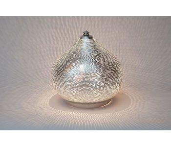 Zenza Oriental filigree table lamp Filiski Silver - L