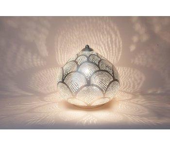 Zenza Oriental filigree table lamp Princess Fan Silver - L