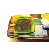 glazen hapjesschaal, tapas bord