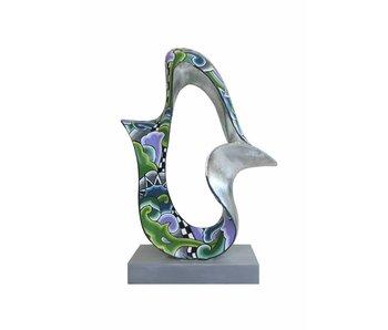 Toms Drag sculpture Flow - Silver Line