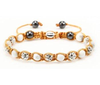 Karma Bracelet White Satin Gold XS