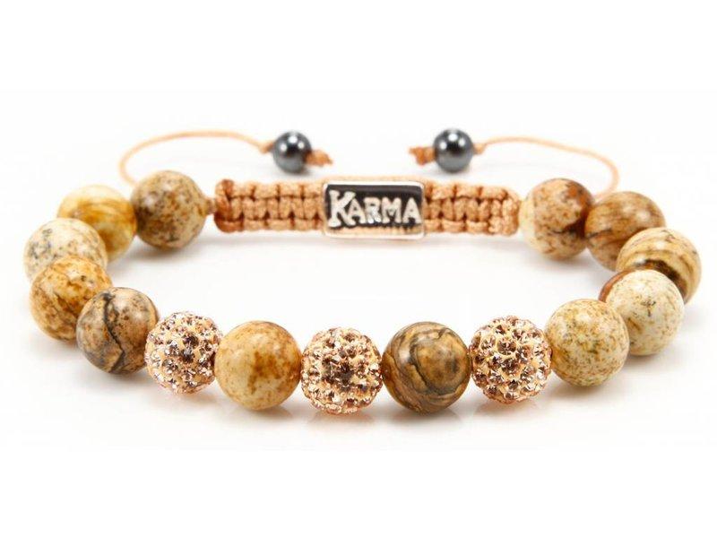 Karma Armband Spiral Classic Woodstock