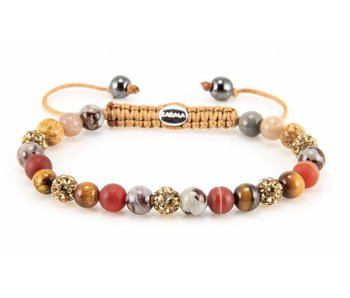 Karma Armband Treasure XS - Geelgouden kristallen