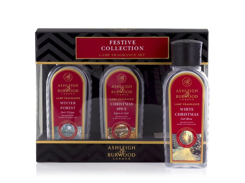 Ashleigh & Burwood Festive collectie van 3 x 180 ml kerstgeuren