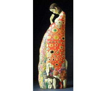 "Mouseion Gustav Klimt sculpture ""The hope II"""