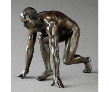 BodyTalk Corredor en posición de salida, estatua desnuda