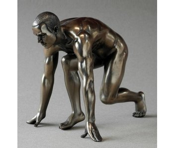 BodyTalk Runner in start position, nude statue