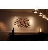 C. Jeré Wall art sculpture, metal wall decoration - Kaleidoscope