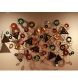 C. Jeré - Artisan House Wall art sculpture, metal wall decoration - Kaleidoscope