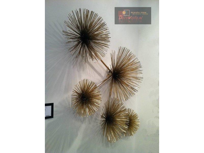 C. Jeré - Artisan House Urchin, Pom Pom metal wall decoration, Artisan House - C. Jeré