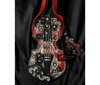 Mary Frances Floral violin - designer minibag