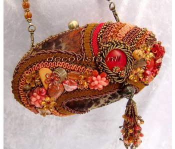 Mary Frances Sun Kiss Coral Abendtasche