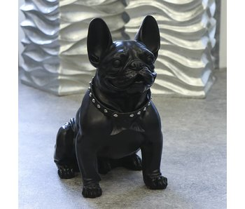 Bulldog hondenbeeld, zwart