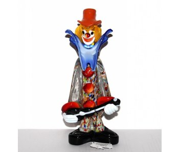 Vetri di Murano Clown with guitar - S