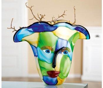 Eldig Glazen vaas met gezicht Visto