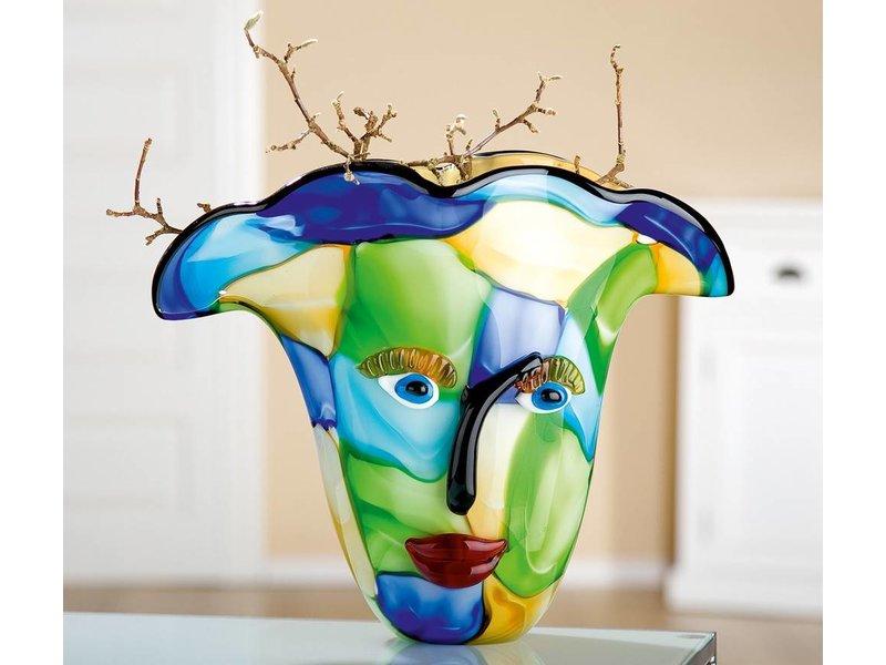 Eldig Designvaas van glas  Visto