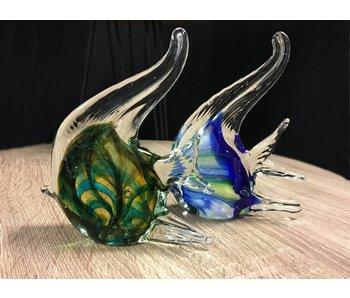 Eldig Maanvissen van glas - set