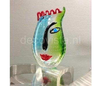 Eldig Glazen design vaas Cool Water