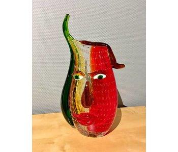 Eldig Artistieke glazen vaas Fire Head