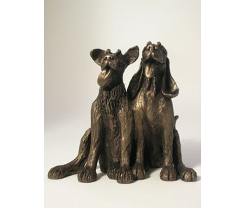 Frith Sculpture  two friendly dogs