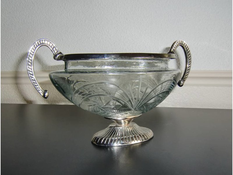 Baroque House of Classics Glass bowl with handles