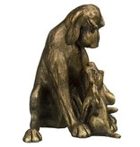 Frith Sculpture dog Amber with pup