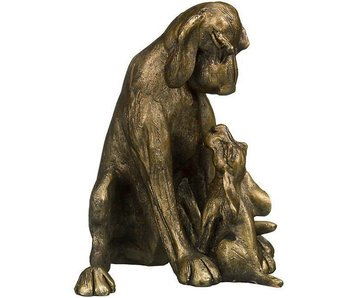 Frith Sculpture  hunting dog with pup
