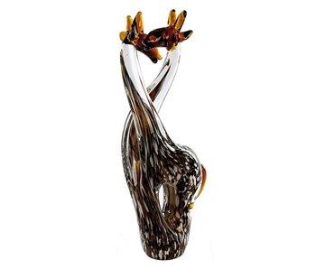 Vetro Gallery Giraffenpaar glassculptuur