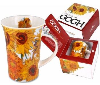 Carmani Porzellanbecher Sonnenblumen Van Gogh