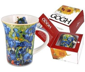 Carmani Mug porcelain - Irises by  Van Gogh