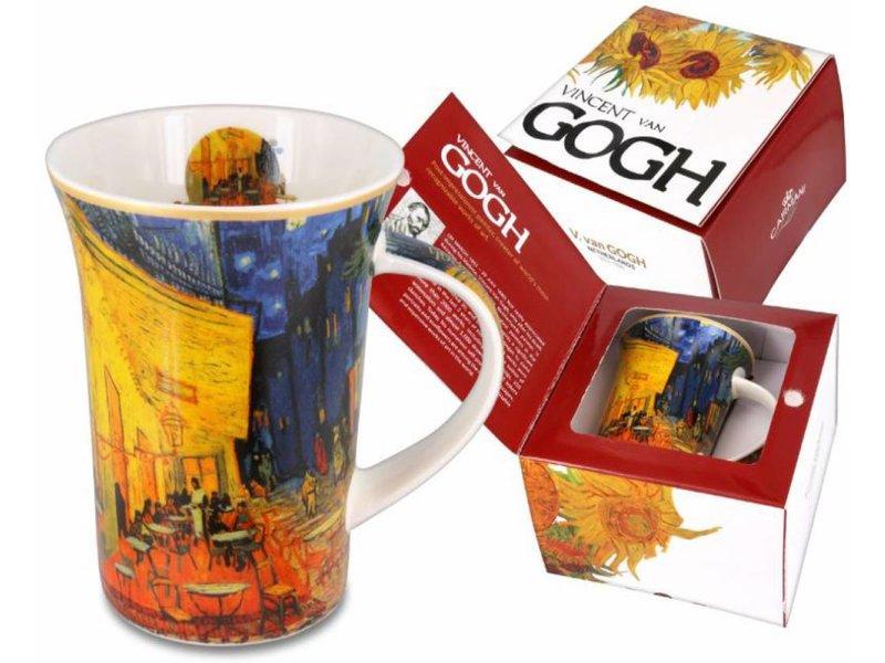 Taza De Porcelana En Caja De Regalo Café Terraza Por La Noche Van Gogh