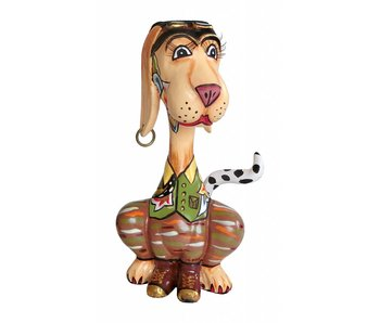 Toms Drag Hondenbeeld  karikatuur Jules  - S