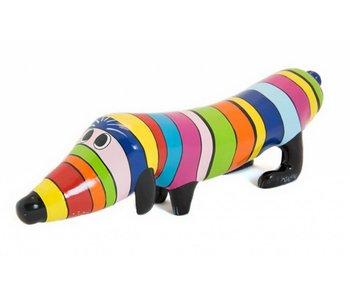 Niloc Pagen Dog figurine Hotdog Rainbow - S