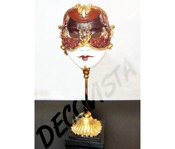 Baroque House of Classics Gezicht met Venetiaans masker
