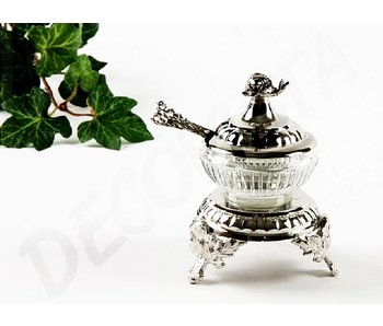 Baroque House of Classics Spice jar with spoon - silver