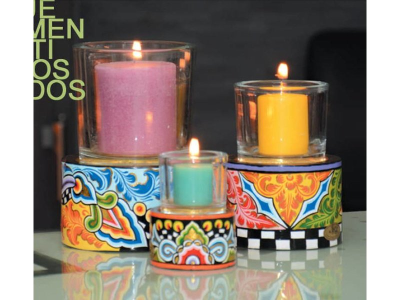 Toms Drag Candleholder T-light with glass - SL